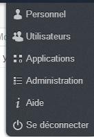 menu admin