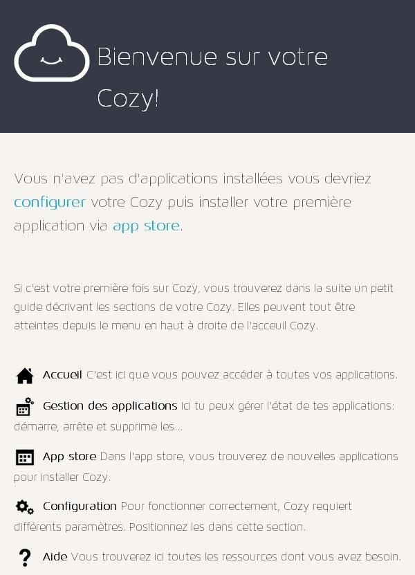 CozyCloud Acceuil