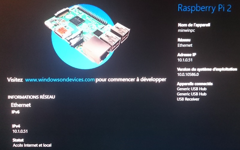 photo Windows 10 IoT Core TFRICHET